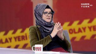 Hatice Cengiz, la fiancée du journaliste Jamal Khashoggi, le 26 octobre 2018 à Istanbul (Turquie). (REUTERS)