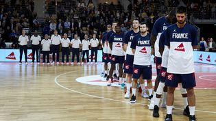 L'équipe de France de basket, le 24 février 2020, à Mouilleron-Le-Captif (Vendée). (ANN-DEE LAMOUR / ANN-DEE LAMOUR / AFP)