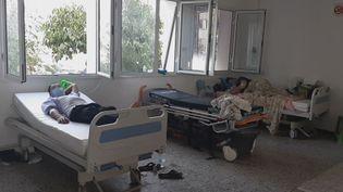 L'hôpital Abderrahmen Mami à Tunis manque de moyens pour affronter l'épidémie de Covid-19 qui frappe la Tunisie, le 29 juillet 2021. (BENJAMIN THUAU / RADIO FRANCE)