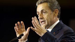 Nicolas Sarkozy en meeting à Marseille, le 27 octobre 2016 (CLAUDE PARIS / AP / SIPA)