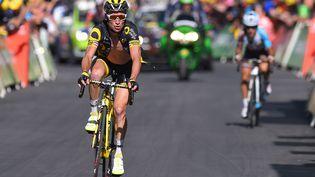 Le cycliste français Thomas Voeckler, lors du Tour de France 2016, le 20 juillet 2016, en Suisse. (DE WAELE TIM / TDWSPORT SARL / AFP)