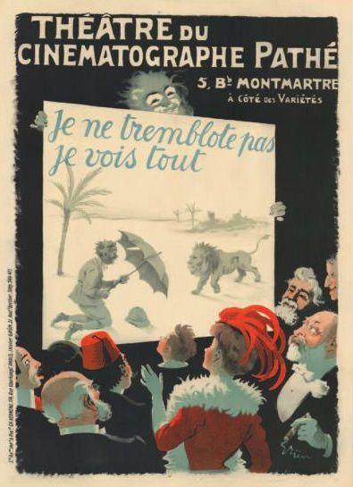 Théâtre du Cinéma Pathé. Affiche française 1900.  (Néret-Minet  Tessier & Sarrou)