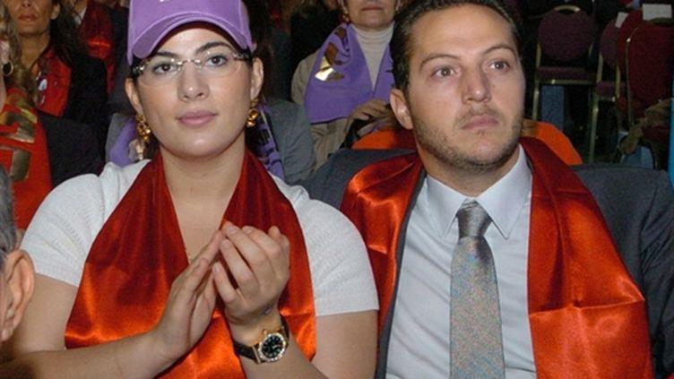 Nesrine Ben Ali, l'une des filles de Ben Ali, avec son mari Sakher el Materi (AFP / Fethi BELAID)