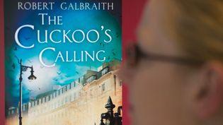 """Une femme regarde la couverture, sur un écran d'ordinateur, du livre """"L'appel du coucou"""" de J.K. Rowling, qu'elle a signé sous un pseudonyme, à Berlin (15/7/2013)  (Maurizio GambariniI / DPA / AFP)"""