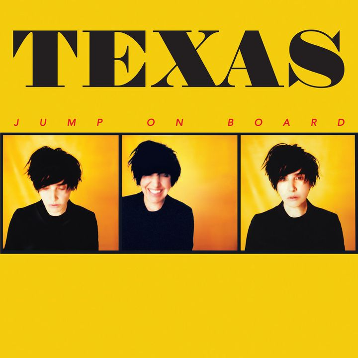 "Pochette du neuvième album de Texas, ""Jump On Board""."
