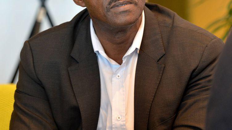Le président de la région Guadeloupe, Ary Chalus, à Saint-Malo (Ile-et-Vilaine) pour le départ de la route du Rhum, le 2 novembre 2018. (MAXPPP)