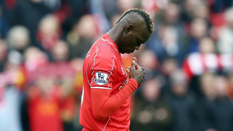 Mario Balotelli, l'attaquant de Liverpool. (MATT WEST / BACKPAGE IMAGES LTD)