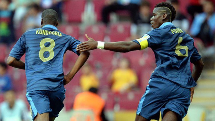 Geoffrey Kondogbia, buteur contre le Ghana, a permis aux Bleuets de bien commencer ce Mondial.  (GEORGI LICOVSKI / MAXPPP)