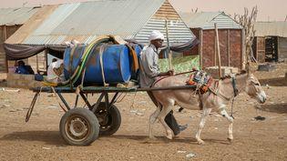 Un charretier dans les rues de Nouakchott. (OZKAN BILGIN / ANADOLU AGENCY / AFP)
