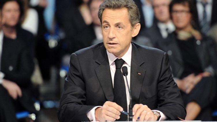 Nicolas Sarkozy à Gravelines (3 mai 2011) (AFP/DENIS CHARLET)