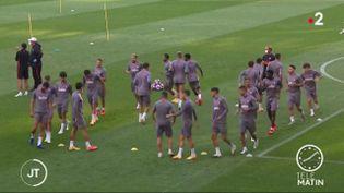 Les joueurs del'Atlético de Madrid. (France 2)