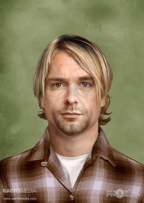 Kurt Cobain, mort en 1994 à 27 ans, tel qu'il pourrait être en 2013.  (SachsMedia)
