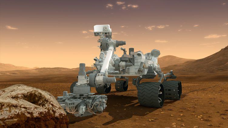 Une maquette du robot Curiosity, qui doit se poser sur Mars lundi 6 août 2012. (HO / NASA/JPL-CALTECH/ASU)