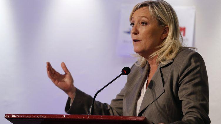 La présidente du Front national, Marine Le Pen, le 23 juin 2015, à Paris. (FRANCOIS GUILLOT / AFP)