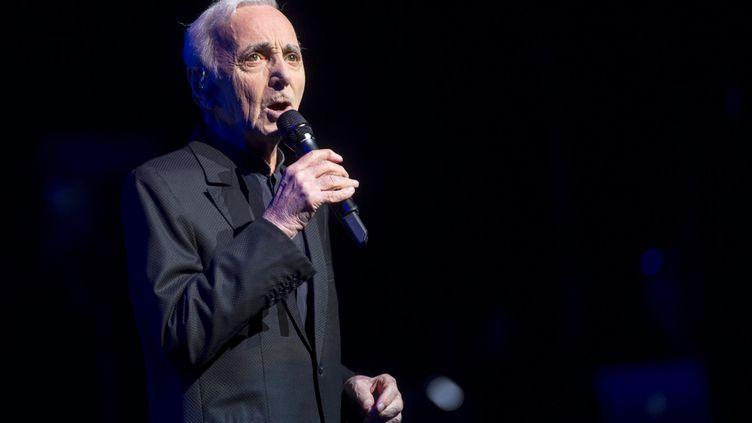 Charles Aznavour donne un concert à Barcelone (Espagne), le 20 avril 2018. (MAXPPP)