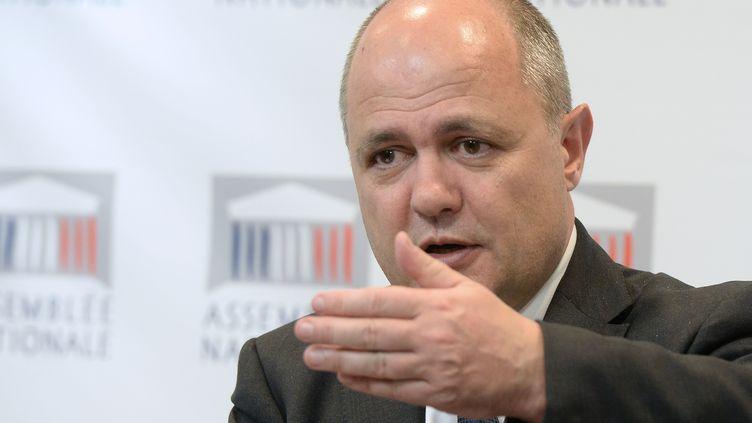 Bruno Le Roux, l'actuel ministre de l'Intérieur, en 2014 à l'Assemblée nationale, à Paris. (PIERRE ANDRIEU / AFP)