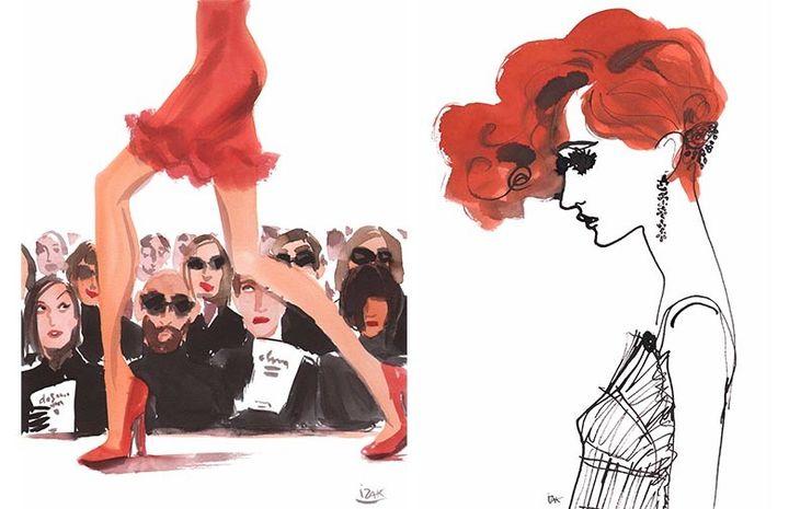 """""""Fashion Illustrators"""" : Runway + Ginger d'Izak Zenou  (Izak Zenou )"""