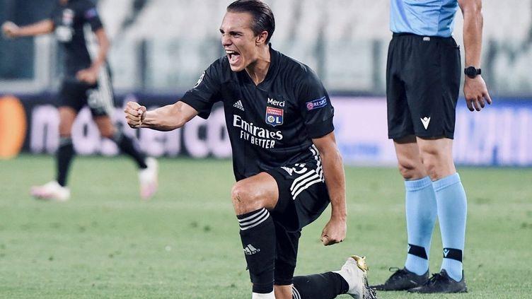 Maxence Caqueret célèbre la qualification contre la Juventus