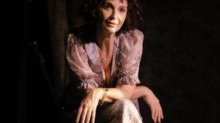 """Zabou Breitman interprétant Dorothy Parker dans la pièce """"Dorothy"""" au théâtre du Chêne Noir à Avignon. (PASCAL VICTOR /  )"""