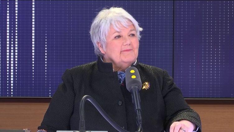 Jacqueline Gourault,ministre de la Cohésion des territoires et des Relations avec les collectivités territoriales, le 3 avril 2019 franceinfo. (FRANCEINFO / RADIOFRANCE)