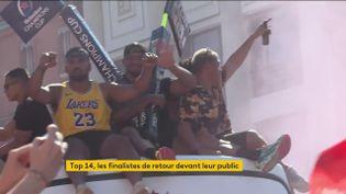 La parade du Stade Toulousain samedi 26 juin (FRANCEINFO)