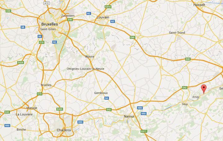 Capture écran Google Maps de la ville de Hermalle-sous-Juy en Belgique. (GOOGLE MAPS)
