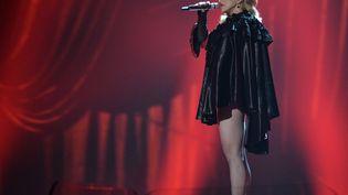 La chanteuse Madonna au 57e Grammy Awards à Los Angeles (Etats-Unis) le 8 février 2015 (ROBYN BECK / AFP)