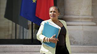 La ministre de la Justice, Christiane Taubira, le 15 juillet 2015 à l'Elysée. (  MAXPPP)