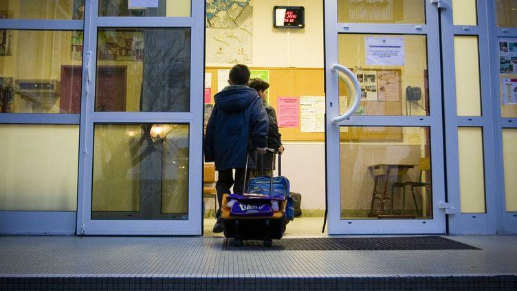 Une école à Montrouge (Hauts-de-Seine). (Photo d'illustration). (POUZET/SIPA)