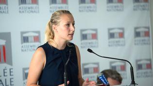 Marion Maréchal Le Pen lors d'une conférence de presse à l'Assemblée nationale à Paris, le 19 juillet 2016. (CHAMUSSY/SIPA)