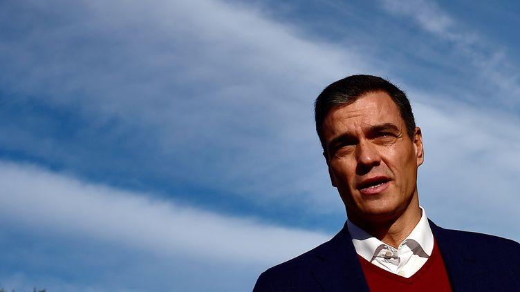 Le Premier ministre espagnol Pedro Sanchez, le 10 novembre 2019, àPozuelo de Alarcon, en périphérie de Madrid. (OSCAR DEL POZO / AFP)