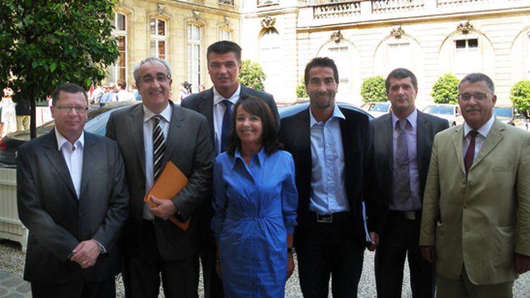 La délégation de la FFM à l'Elysée