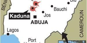 Villes où des églises ont été la cible d'attentats (AFP)