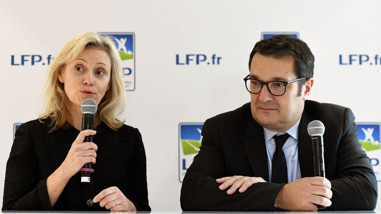 Nathalie Boy de la Tour et Didier Quillot (FRANCK FIFE / AFP)