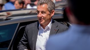 Nicolas Sarkozy, le 22 juillet à la Baule (Loire-Atlantique). (ESTELLE RUIZ / NURPHOTO / AFP)