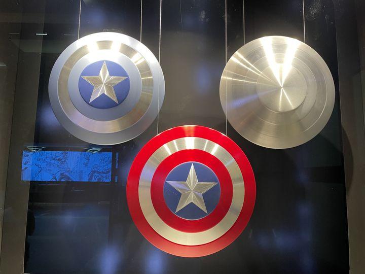 L'indestructible bouclier en vibranium de Captain America. (Anthony Jammot)