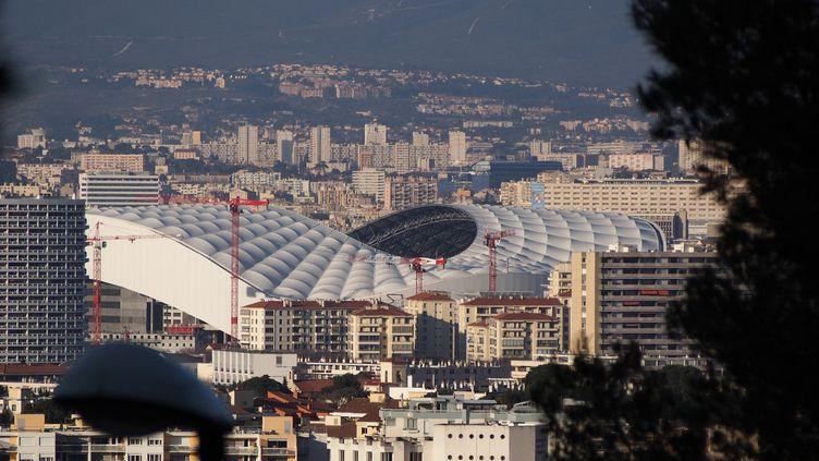 Le stade Vélodrome, à Marseille, le 11 février 2015. (CITIZENSIDE/FREDERIC SEGURAN / AFP)