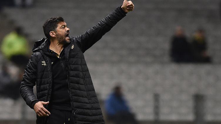 L'entraîneur du FC Nantes, Sergio Conceiçao. (JEAN-SEBASTIEN EVRARD / AFP)