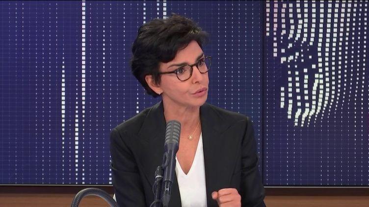 Rachida Dati, ancienne garde des sceaux et candidate LR à la mairie de Paris, invitée de franceinfo, vendredi 26 juin 2020. (FRANCEINFO / RADIOFRANCE)