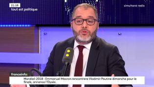 """Le sénateur socialiste Rachid Temal, invité de l'émission """"Tout est politique"""" sur franceinfo, mercredi 11 juillet (FRANCEINFO / RADIOFRANCE)"""