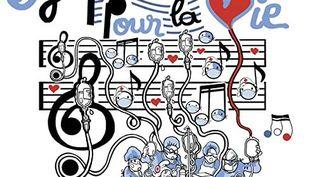 """La pochette de l'album """"Symphonie pour la vie"""" a été illustrée par le dessinateur Plantu. (CAPTURE D'ECRAN AMAZON MUSIC)"""