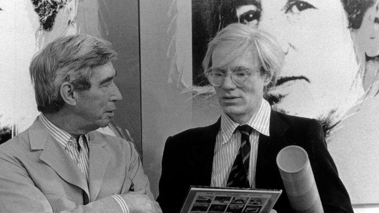 Hergé et le pape du Pop Art Andy Warhol dans les années 70.  (Hergé-Moulinsart 2016)