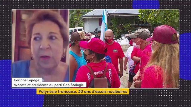 """Essais nucléaires en Polynésie française : """"le minimum que l'on doit, c'est le reconnaître et indemniser convenablement les victimes"""", selon Corinne Lepage"""