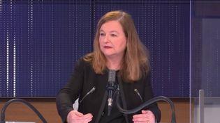 Nathalie Loiseau, eurodéputée LREM et ex-ministre des Affaires européennes, samedi 3 avril 2021 sur franceinfo. (FRANCEINFO / RADIOFRANCE)