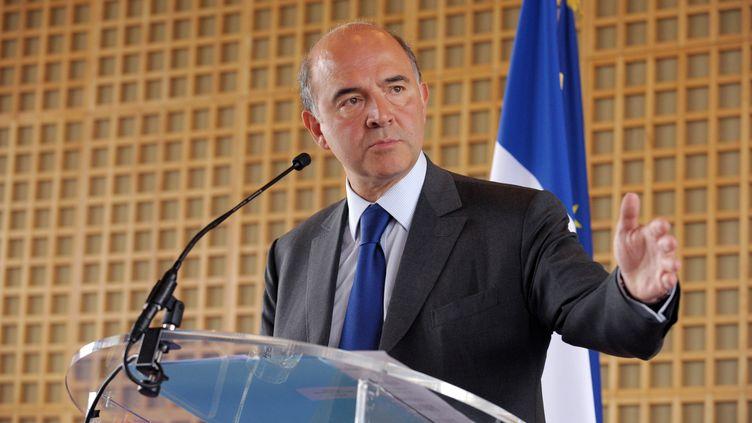 Pierre Moscovici, leministrede l'Economie et des Finances, à Paris, le 6 juin 2012. (ERIC PIERMONT / AFP)