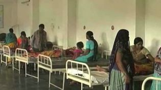 Des Indiennes dans un hôpital. (CAPTURE D'ÉCRAN FRANCE 2)