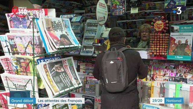 Grand débat : les Français attendent du changement