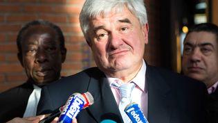 Le maire UMP du Raincy, Eric Raoult, le 7 février 2013, au tribunal de grande instance de Bobigny (Seine-Saint-Denis). (REVELLI-BEAUMONT/SIPA)