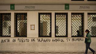 Une agence pour l'emploi à Marbella (Espagne), le 27 janvier 2012. (JORGE GUERRERO / AFP)