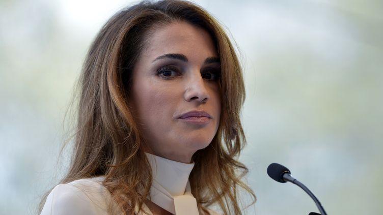 Rania de Jordanie au Medef le 26 Août, 2015 à Jouy-en-Josas (ERIC PIERMONT / AFP)